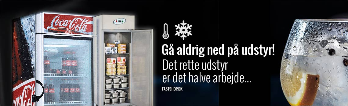 Display fryseskabe med glasdør til industri