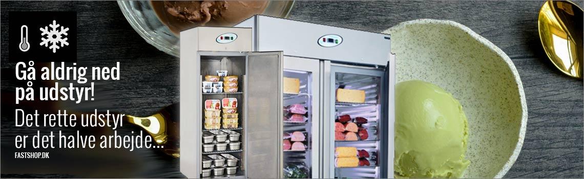 Industrifryseskabe, display fryseskabe, sandwichkølebord til catering