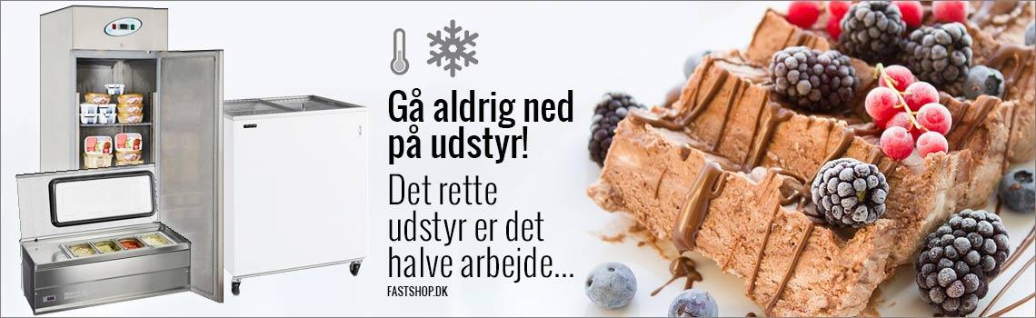Rustfri kugleis scoop fryse til catering
